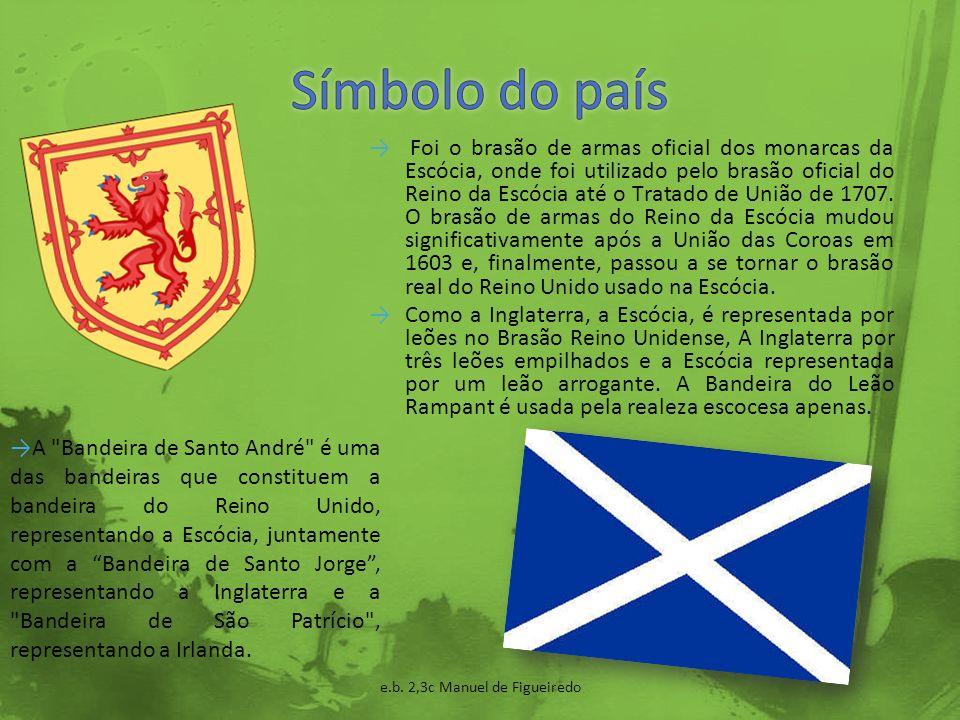 O Inglês é a língua falada na Escócia.