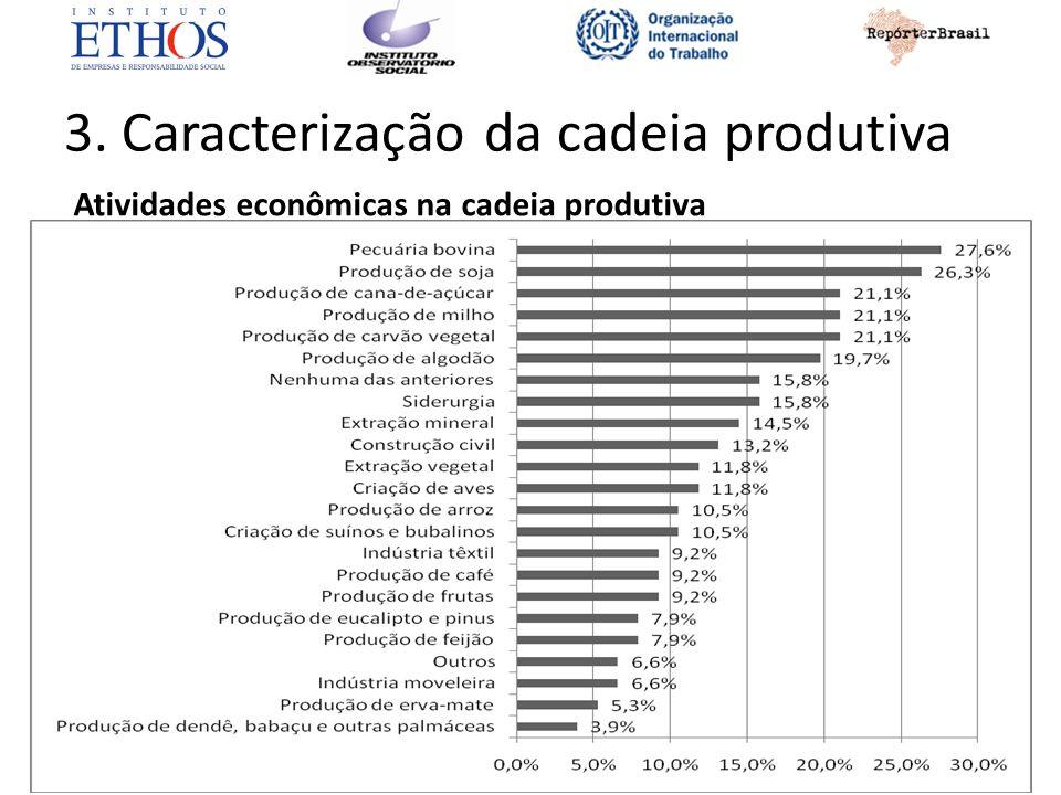 3. Caracterização da cadeia produtiva Atividades econômicas na cadeia produtiva