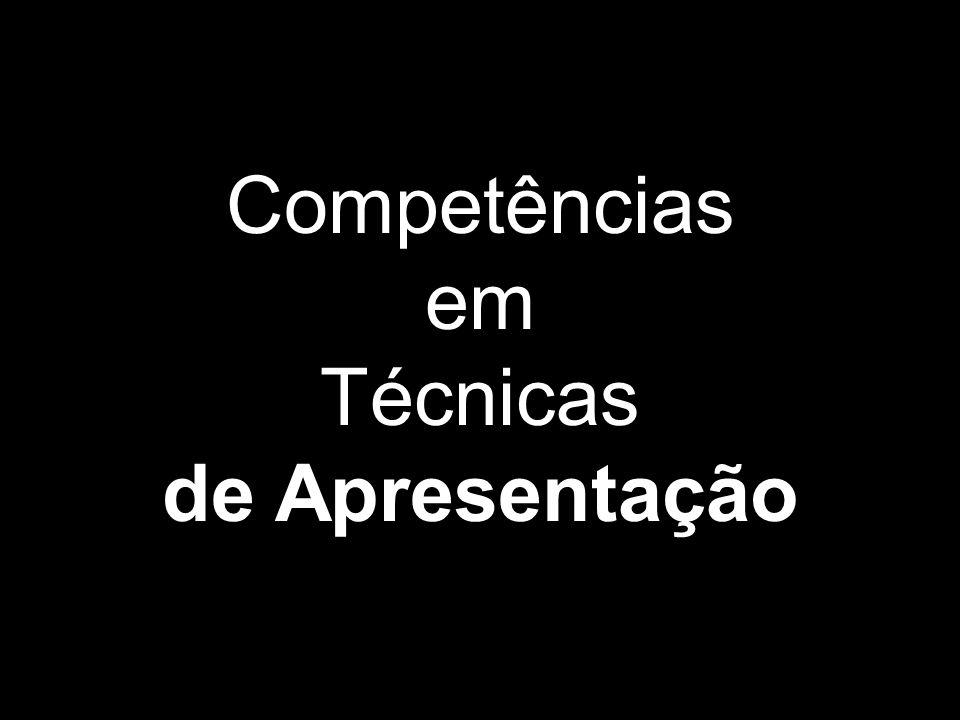 Competências em Técnicas de Apresentação