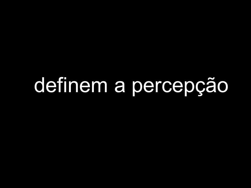 definem a percepção