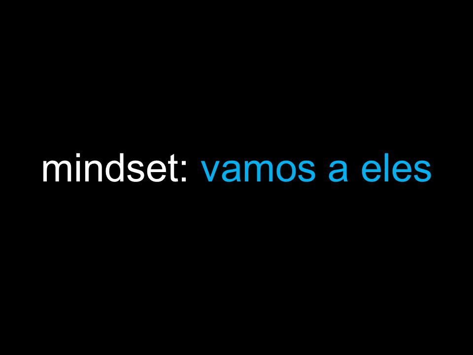mindset: vamos a eles