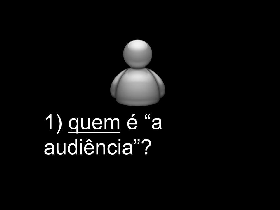 1) quem é a audiência?