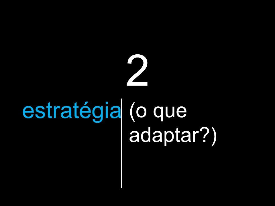 2 a estratégia que vão utilizar (o que adaptar?)