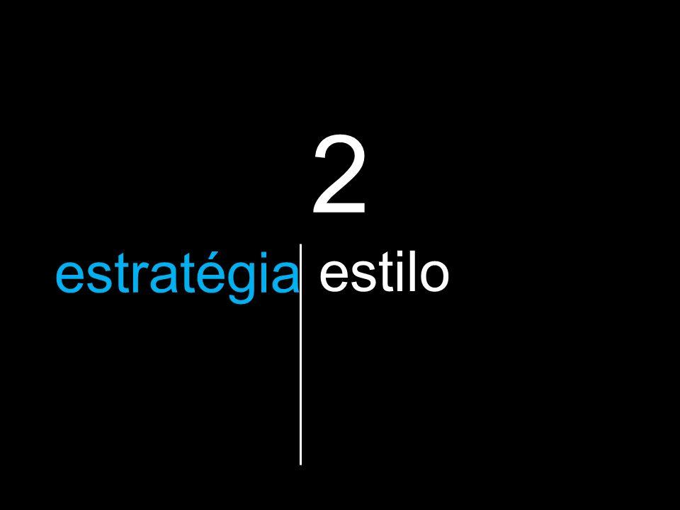 2 a estratégia que vão utilizar estilo