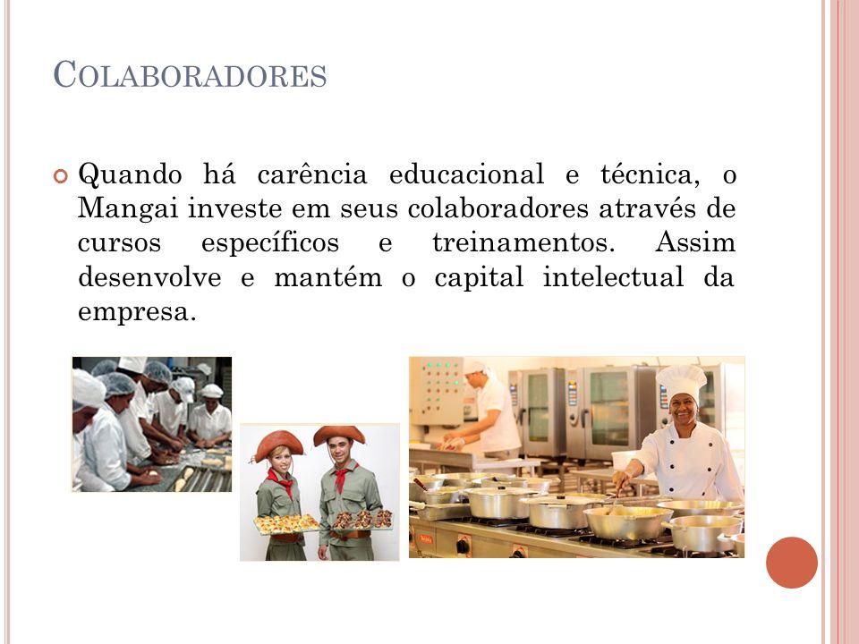 L OGÍSTICA Boa parte dos produtos utilizados no restaurante são produzidos por empresas do próprio grupo Mangai Restaurantes.