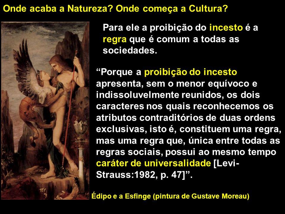 Daí ele conclui que são as regras que definem onde termina a natureza e onde começa a cultura, de modo que se conhecermos qual a regra comum a todas as culturas podemos identificar a origem da cultura.