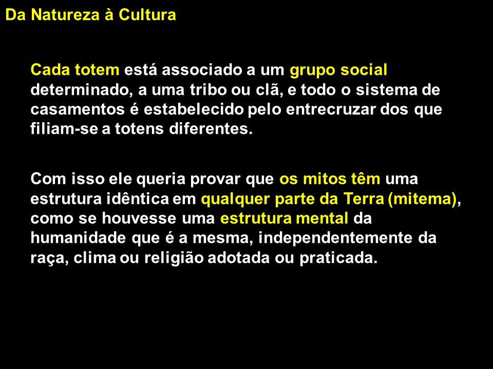 Da Natureza à Cultura Assim como o marxismo e o freudismo, o estruturalismo diminui a importância do que é singular, subjetivo, individual, retratando o ser, a pessoa humana, como resultante de uma construção, a conseqüência de sistemas impessoais.