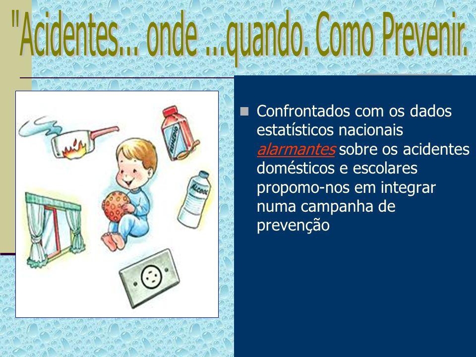 Confrontados com os dados estatísticos nacionais alarmantes sobre os acidentes domésticos e escolares propomo-nos em integrar numa campanha de prevenç