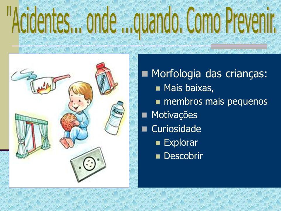 Morfologia das crianças: Mais baixas, membros mais pequenos Motivações Curiosidade Explorar Descobrir