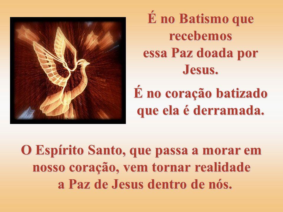 Caminhando e pregando às multidões, Jesus vê os corações amedrontados e aflitos e os pacifica, dizendo: Não se perturbe o vosso coração, nem se atemor