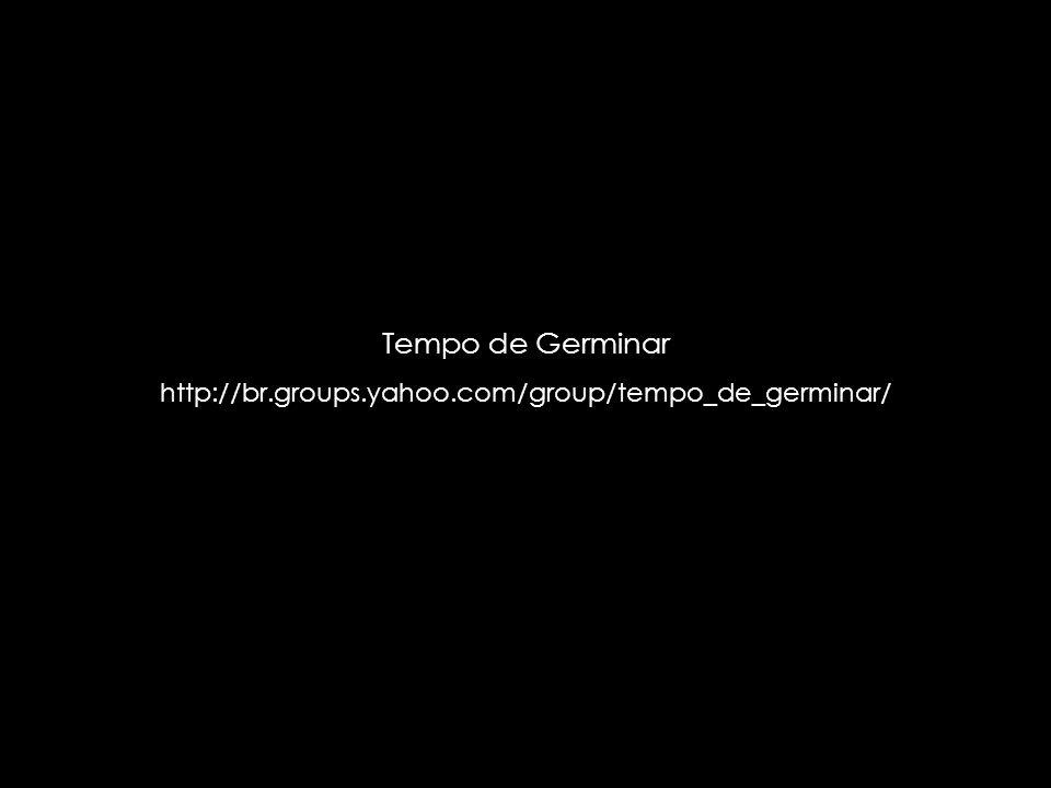 suefirmeza@yahoo.com.br Tempo de Germinar http://br.groups.yahoo.com/group/tempo_de_germinar/
