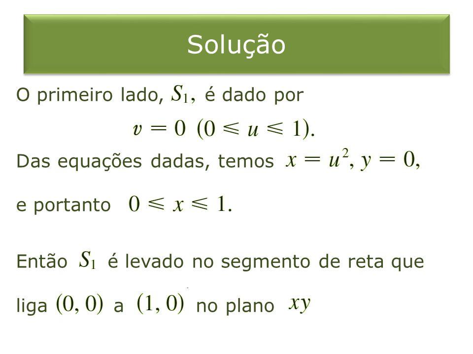 Solução O primeiro lado, é dado por Das equações dadas, temos e portanto Então é levado no segmento de reta que liga a no plano