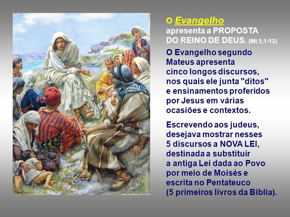 O Evangelho apresenta a PROPOSTA DO REINO DE DEUS.