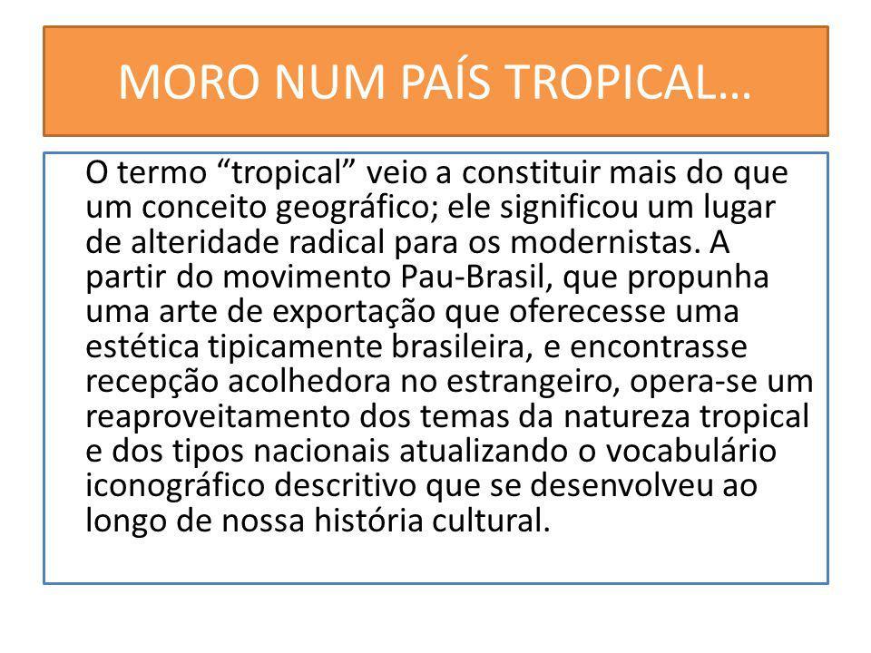 MORO NUM PAÍS TROPICAL… O termo tropical veio a constituir mais do que um conceito geográfico; ele significou um lugar de alteridade radical para os modernistas.