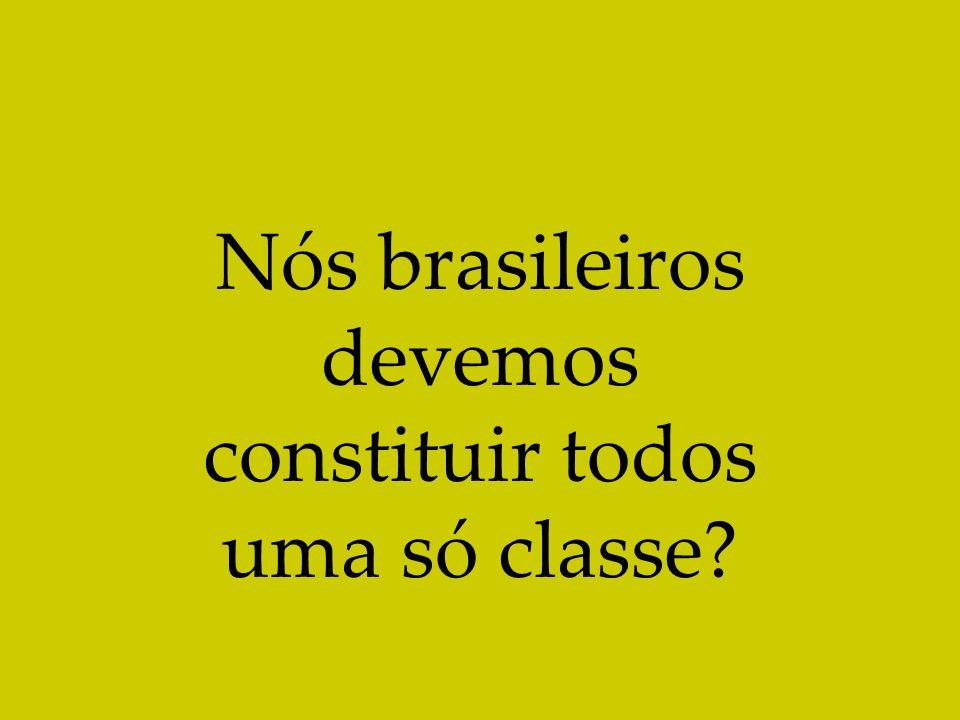 Nós brasileiros devemos constituir todos uma só classe?