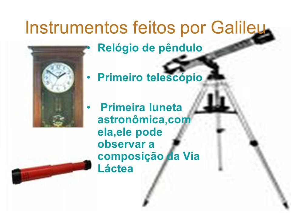 O que Galileu fez durante vida? Ele foi o primeiro a contestar as afirmações de Aristóteles, que, até aquele momento, havia sido o único a fazer desco
