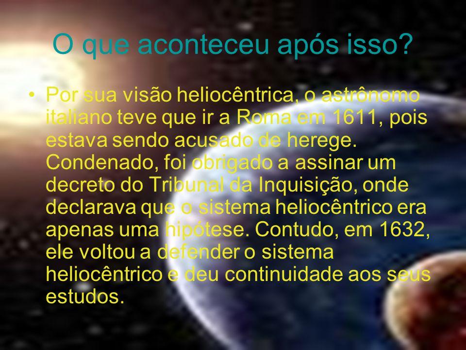 O que aconteceu por ele ter avistado a Via Láctea? Esses achados astronômicos foram relatados ao mundo através do livro Sidereus Nuntius (Mensageiro d