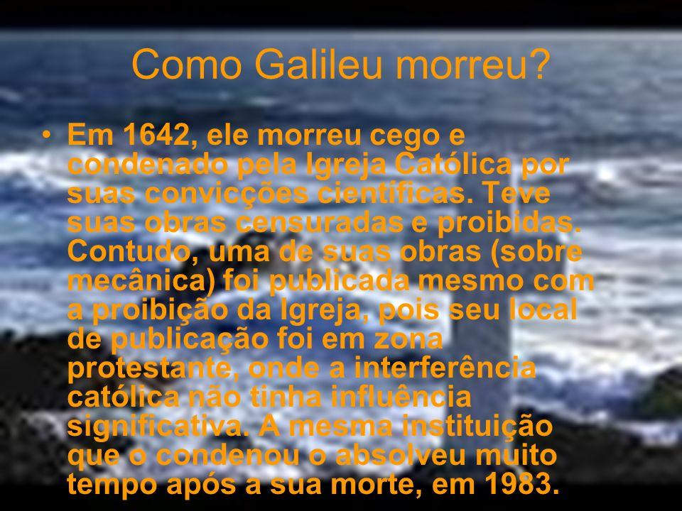 Experiência de Galileu contra a de Aristóteles. Muitas idéias fundamentadas por Aristóteles foram colocadas em discussão por indagações de Galilei. En