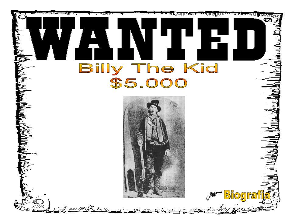 Billy the Kid nasceu em 1859 e começou a sua vida no mundo do crime aos 15 anos em Silver City, no Novo México.