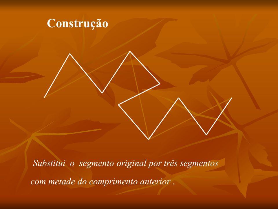 Substitui o segmento original por três segmentos com metade do comprimento anterior. Construção
