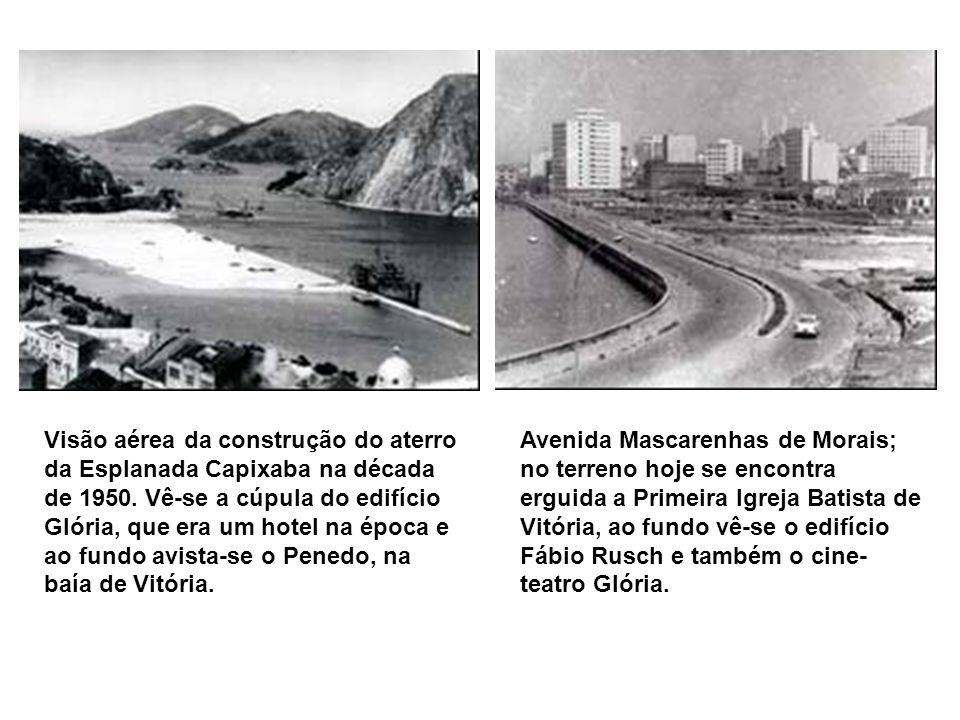 Casa de saúde Dr. Dório Silva, situado na esquina da avenida Jerônimo Monteiro com a rua Engenheiro Pinto Paca, onde hoje está localizado o estacionam