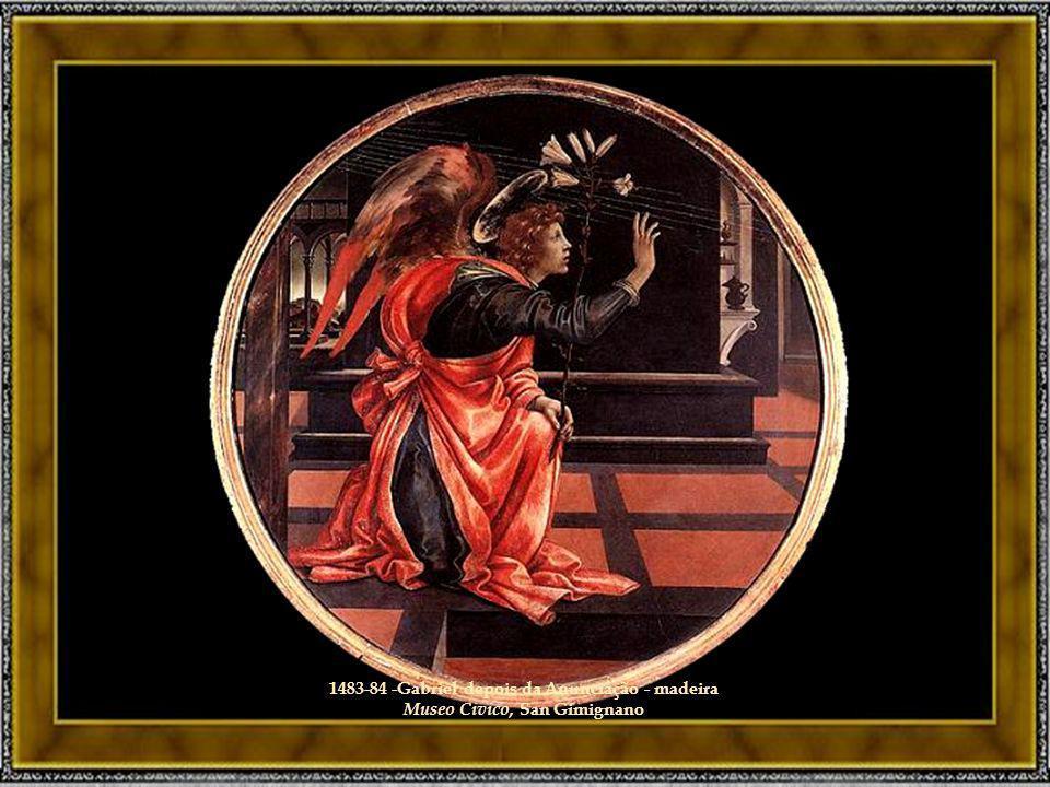 1483-84 -Gabriel depois da Anunciação - madeira Museo Civico, San Gimignano