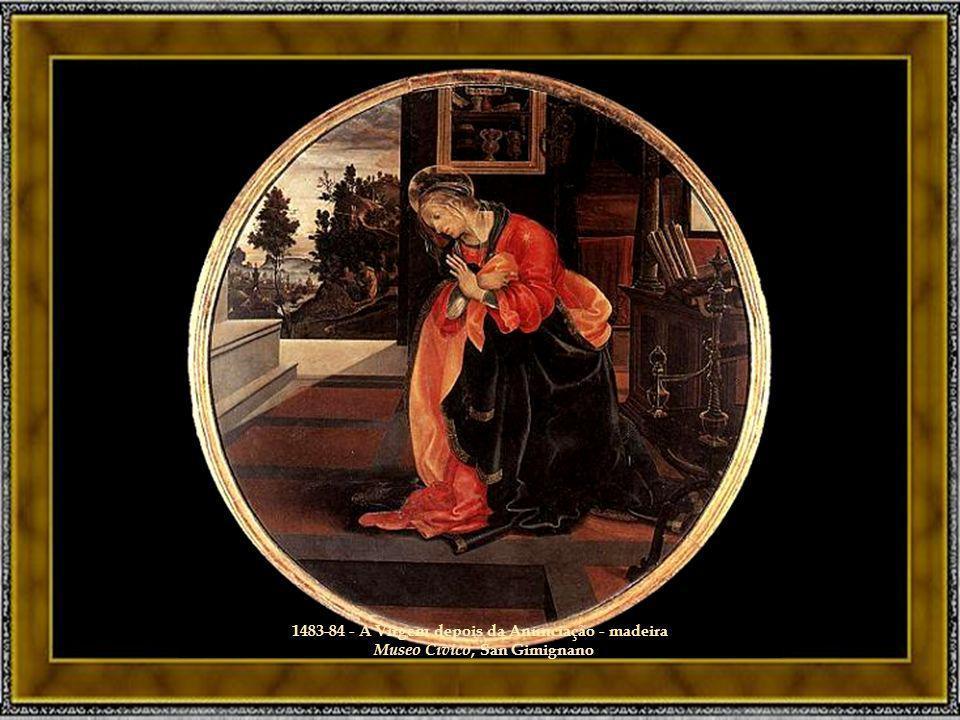 1483-84 - A Virgem depois da Anunciação - madeira Museo Civico, San Gimignano