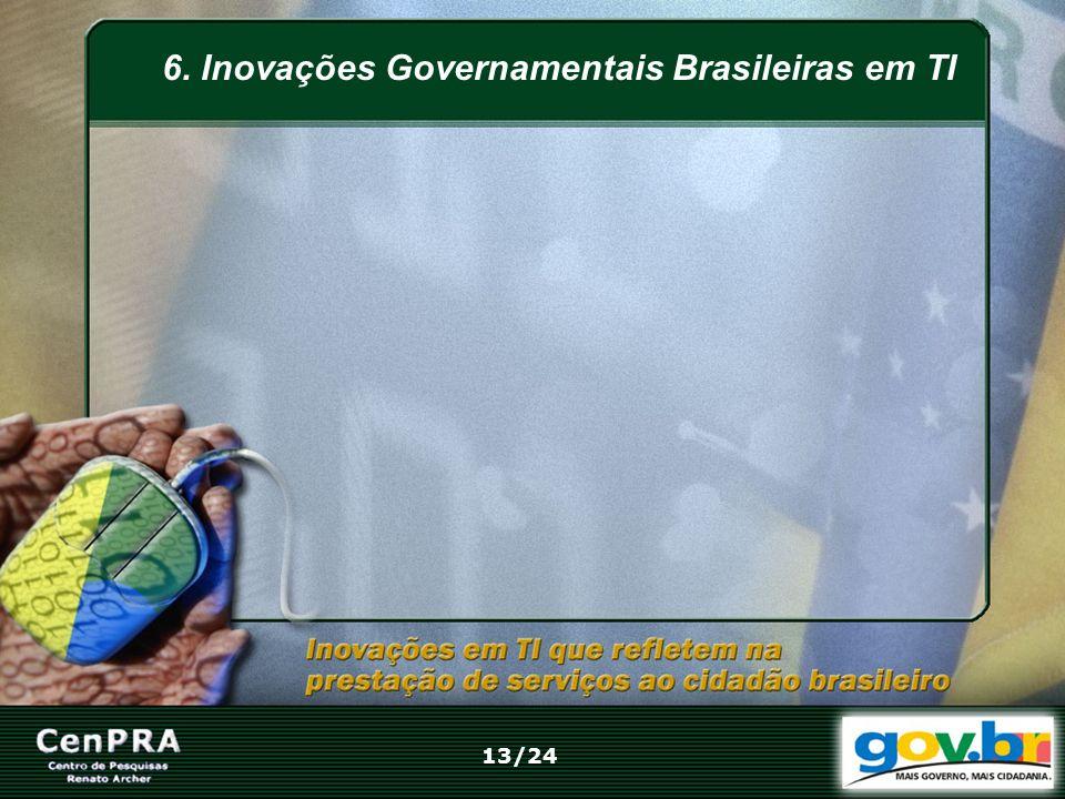 6. Inovações Governamentais Brasileiras em TI 13/24