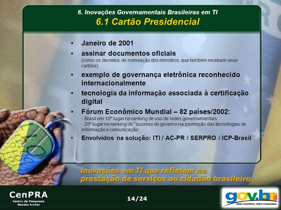 Janeiro de 2001 assinar documentos oficiais (como os decretos de nomeação dos ministros, que também recebem seus cartões). exemplo de governança eletr