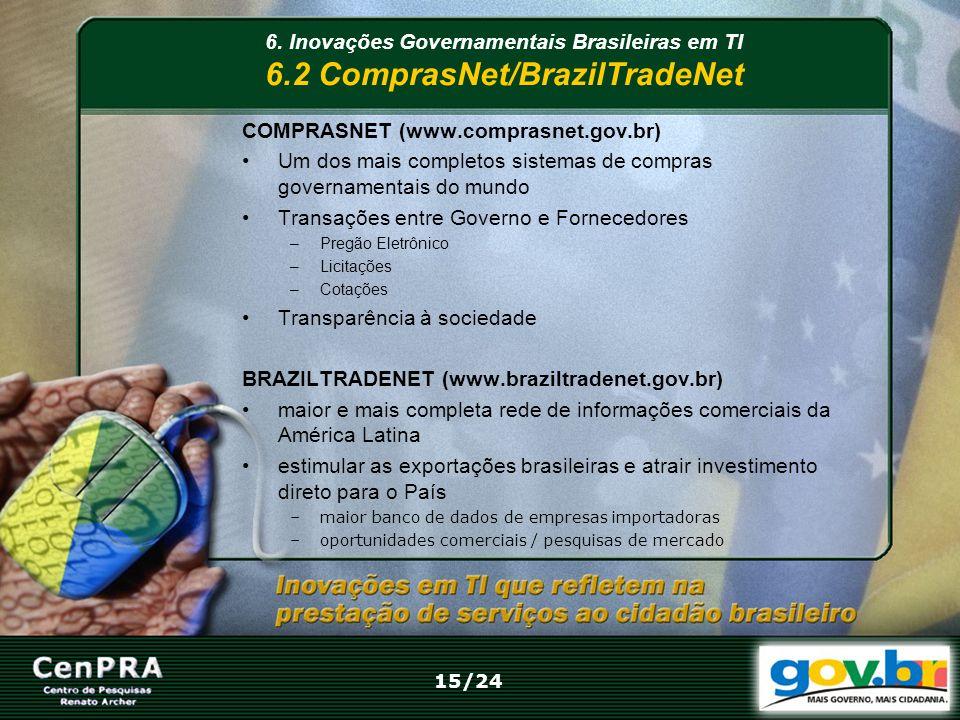 COMPRASNET (www.comprasnet.gov.br) Um dos mais completos sistemas de compras governamentais do mundo Transações entre Governo e Fornecedores –Pregão E