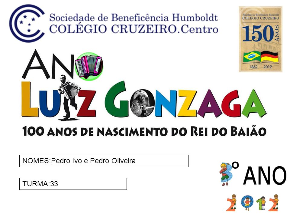 NOMES:Pedro Ivo e Pedro Oliveira TURMA:33