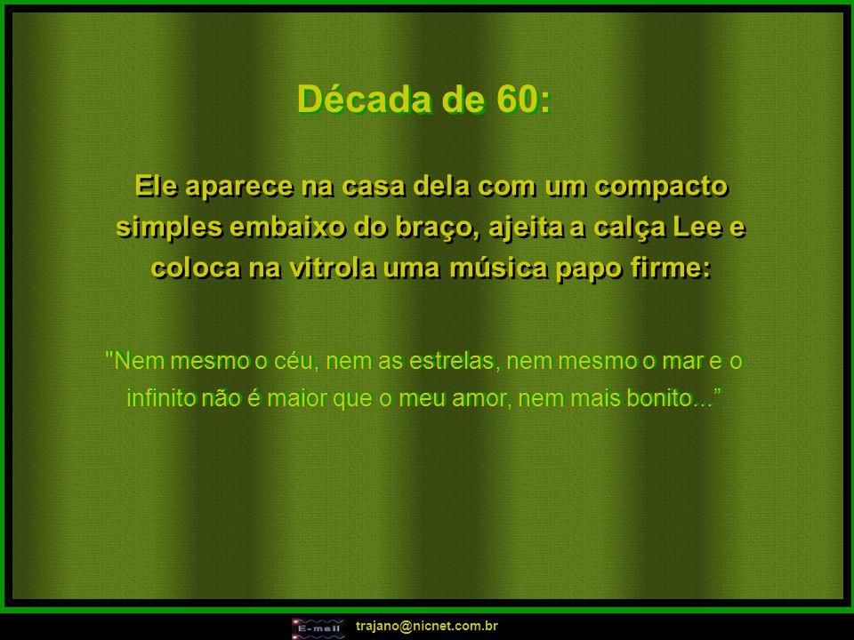 trajano@nicnet.com.br Em 2001: Tchutchuca.Vem aqui com o teu Tigrão.