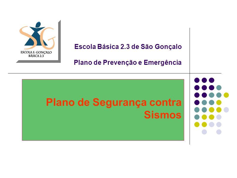 Escola Básica 2.3 de São Gonçalo Plano de Prevenção e Emergência Plano de Segurança contra Sismos