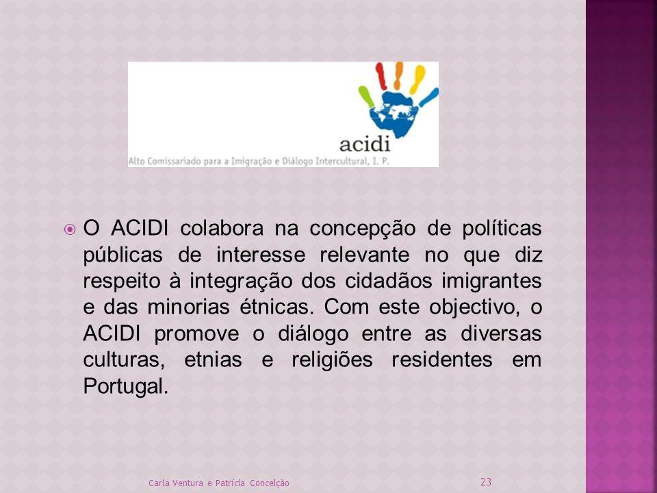 O ACIDI colabora na concepção de políticas públicas de interesse relevante no que diz respeito à integração dos cidadãos imigrantes e das minorias étn