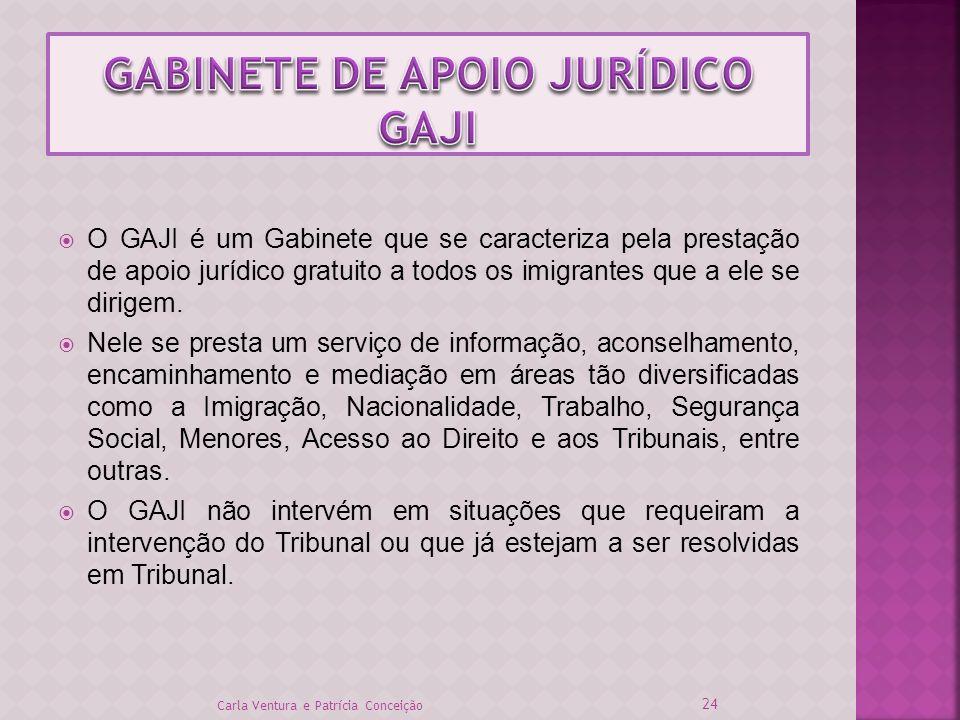 O GAJI é um Gabinete que se caracteriza pela prestação de apoio jurídico gratuito a todos os imigrantes que a ele se dirigem. Nele se presta um serviç