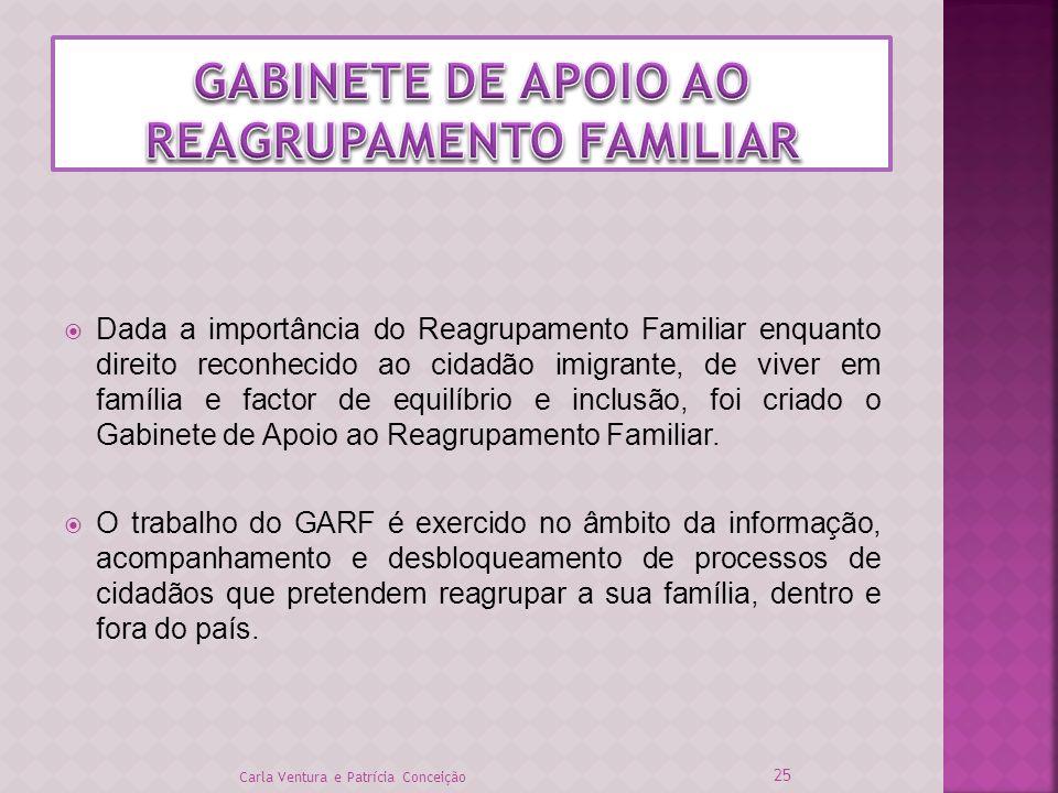 Dada a importância do Reagrupamento Familiar enquanto direito reconhecido ao cidadão imigrante, de viver em família e factor de equilíbrio e inclusão,
