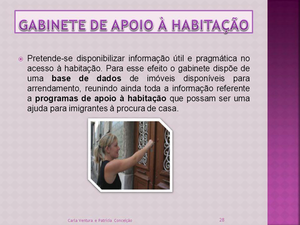 Pretende-se disponibilizar informação útil e pragmática no acesso à habitação. Para esse efeito o gabinete dispõe de uma base de dados de imóveis disp