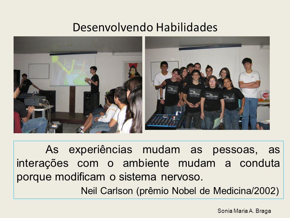 Desenvolvendo Habilidades As experiências mudam as pessoas, as interações com o ambiente mudam a conduta porque modificam o sistema nervoso. Neil Carl