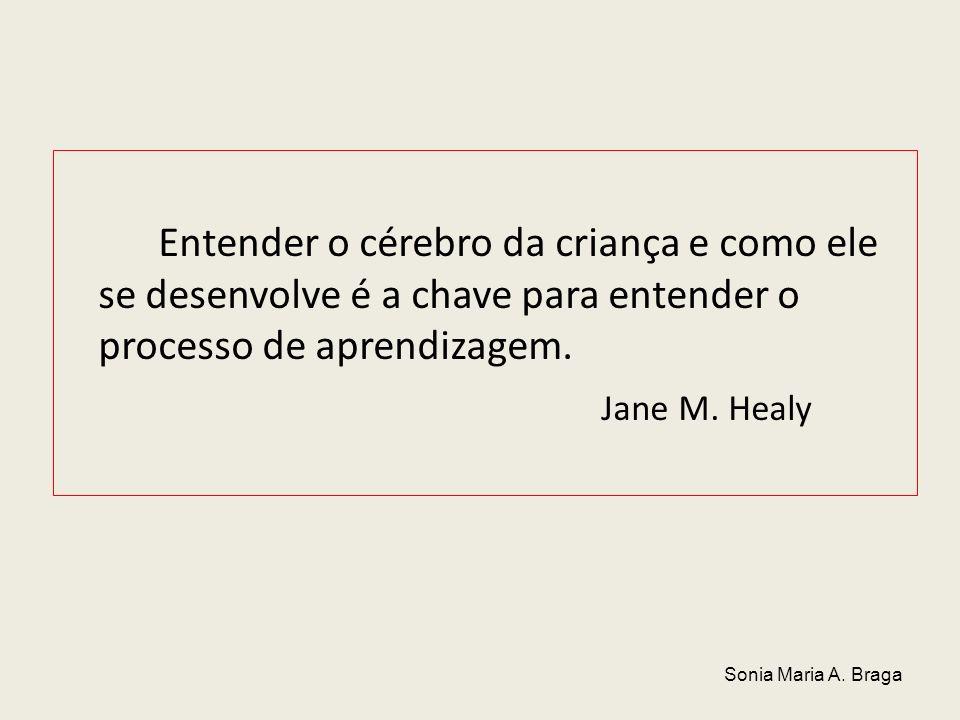 Entender o cérebro da criança e como ele se desenvolve é a chave para entender o processo de aprendizagem. Jane M. Healy Sonia Maria A. Braga