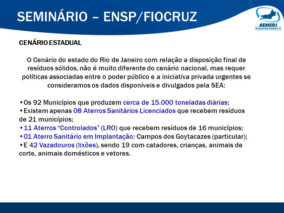 © 2008-2009. SIGFácil, SIGISS Digital e SIGPub são soluções providas pela Vox Tecnologia. SEMINÁRIO – ENSP/FIOCRUZ CENÁRIO ESTADUAL O Cenário do estad