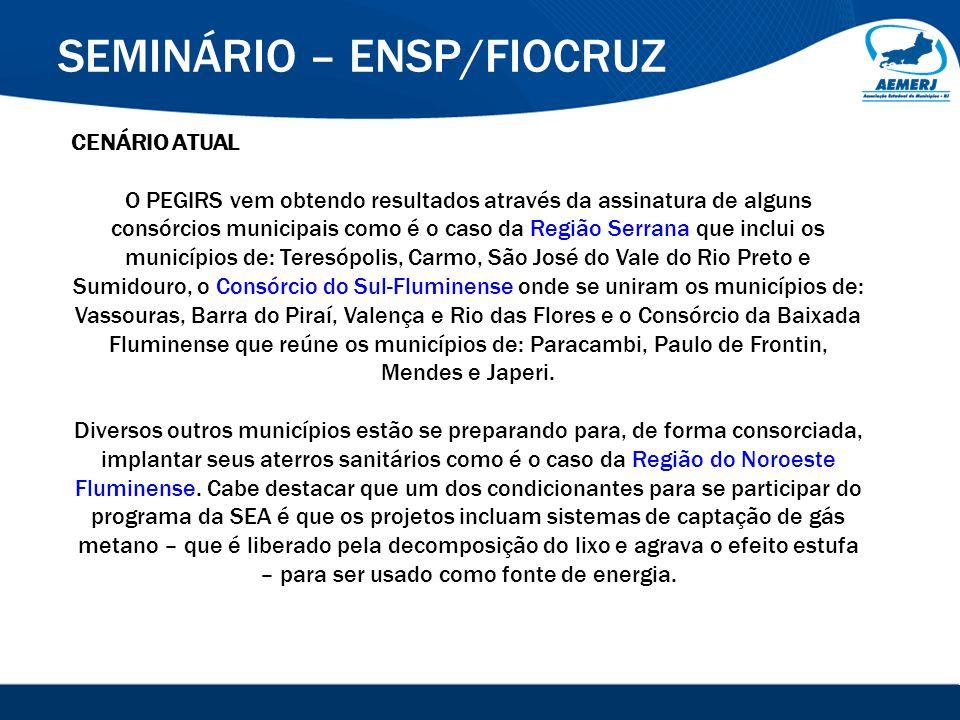 © 2008-2009. SIGFácil, SIGISS Digital e SIGPub são soluções providas pela Vox Tecnologia. SEMINÁRIO – ENSP/FIOCRUZ CENÁRIO ATUAL O PEGIRS vem obtendo