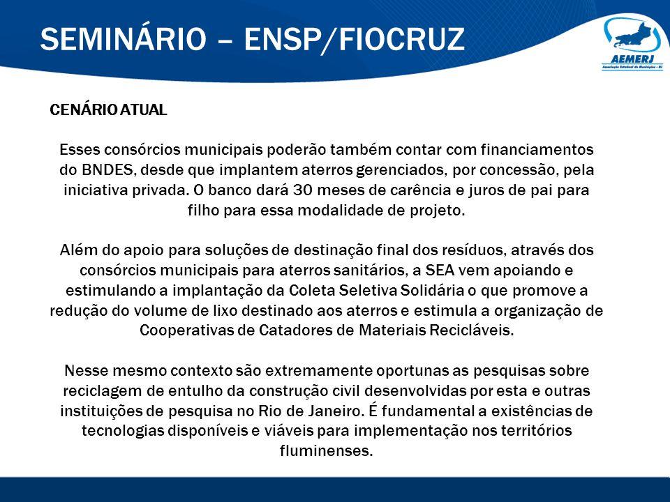 © 2008-2009. SIGFácil, SIGISS Digital e SIGPub são soluções providas pela Vox Tecnologia. SEMINÁRIO – ENSP/FIOCRUZ CENÁRIO ATUAL Esses consórcios muni