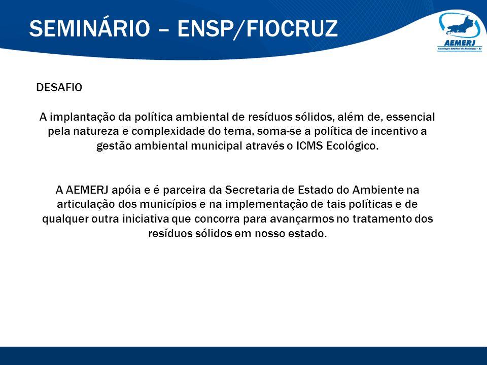 © 2008-2009. SIGFácil, SIGISS Digital e SIGPub são soluções providas pela Vox Tecnologia. SEMINÁRIO – ENSP/FIOCRUZ DESAFIO A implantação da política a