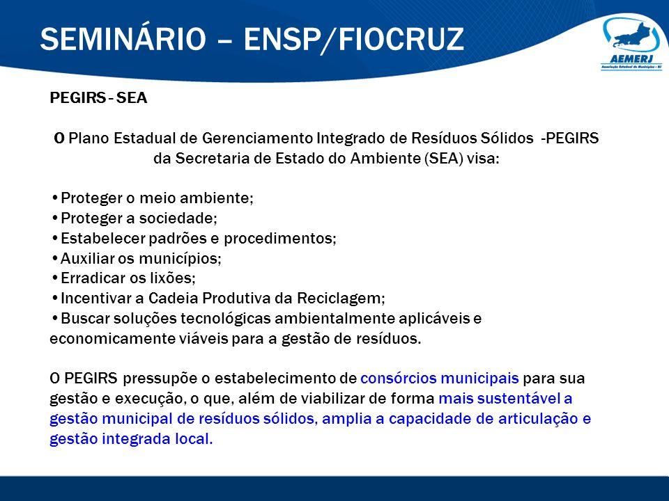© 2008-2009. SIGFácil, SIGISS Digital e SIGPub são soluções providas pela Vox Tecnologia. SEMINÁRIO – ENSP/FIOCRUZ PEGIRS - SEA O Plano Estadual de Ge
