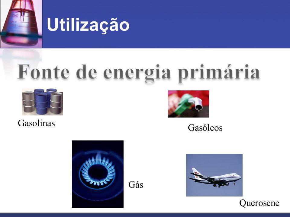 Utilização Gás Gasolinas Gasóleos Querosene