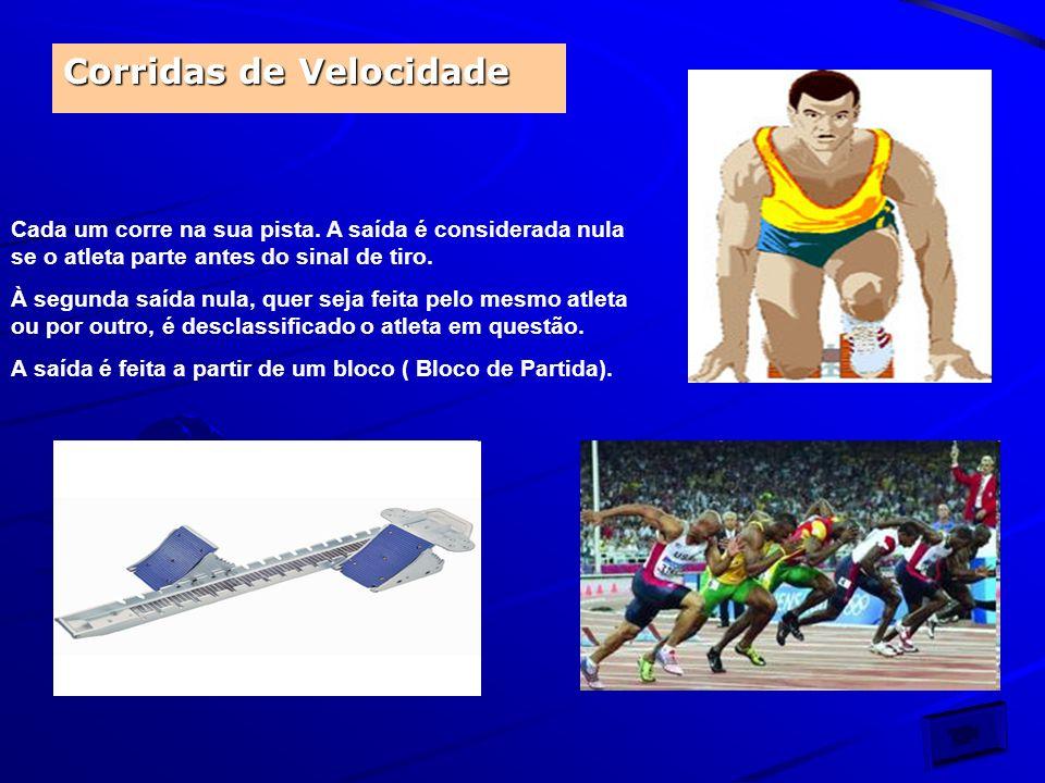 Algo mais que devemos saber sobre o atletismo: Nas Corridas: Os corredores devem respeitar as marcas da pista.
