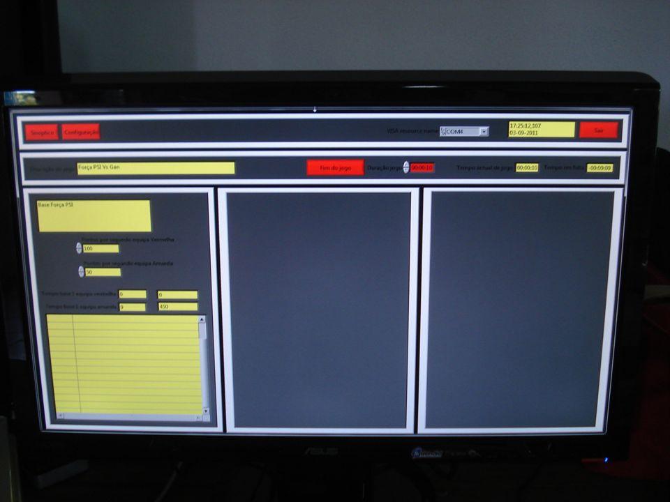 Desenvolvido… Sistema modo arena para uma base Ambiente gráfico (em desenvolvimento) Pontuação diferencial Sistema de inicio de fim de jogo através da app Edição da descrição do jogo e da base Sistema modular de modos de jogo
