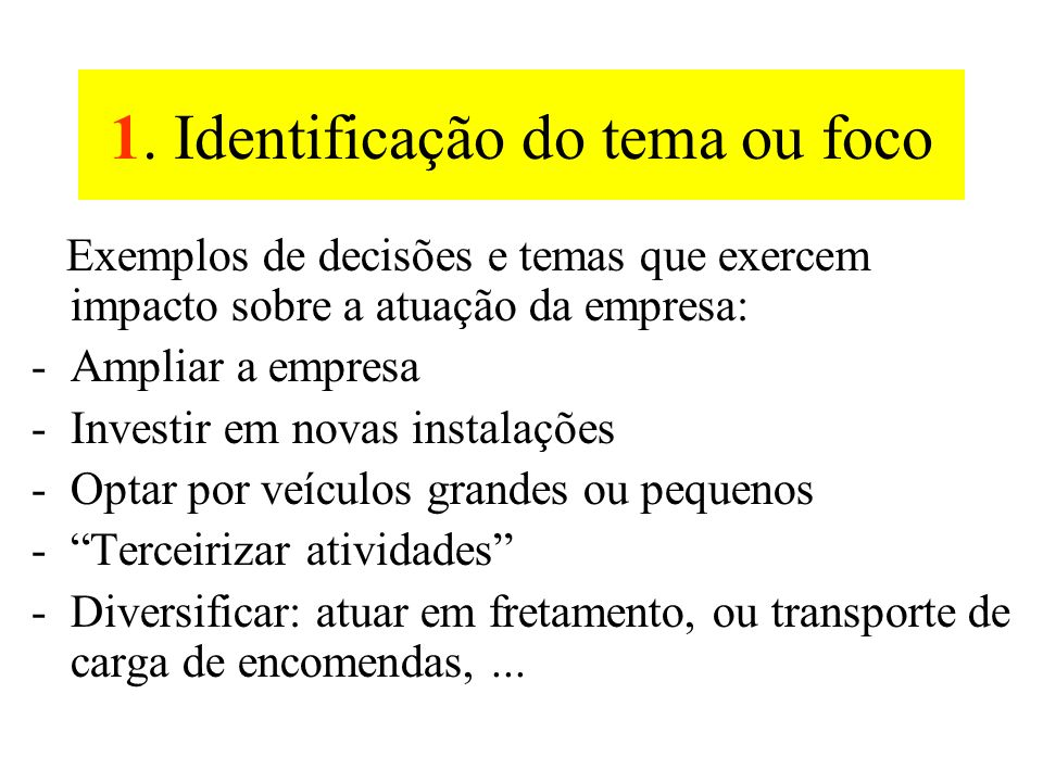 1. Identificação do tema ou decisão focal. 2. Principais forças do ambiente local. 3. Forças indutoras. 4. Classificação por importância e incerteza.