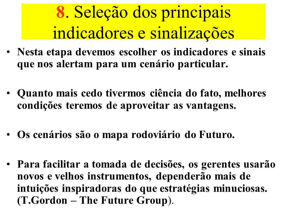 7. Implicações Com a disponibilidade dos cenários é possível perguntar como se comporta a decisão sob cada cenário. Se houver por exemplo 4 cenários e