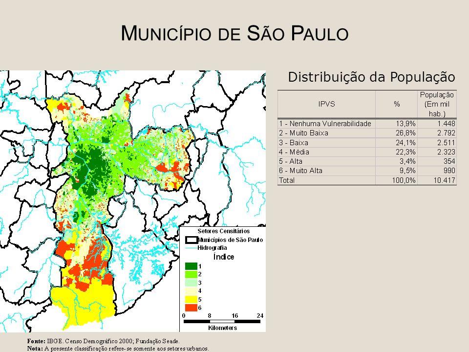 M UNICÍPIO DE S ÃO P AULO Distribuição da População